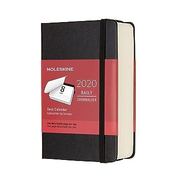 Amazon.com: Moleskine 2020 Agenda de escritorio diario, 39.4 ...
