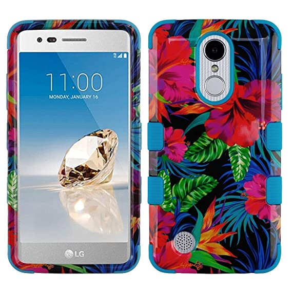 best loved 3c329 14438 MyBat LG-MS210 (LV3)/Aristo TUFF Hybrid Phone Protector Cover  [Military-Grade Certified] - Electric Hibiscus/Tropical Teal