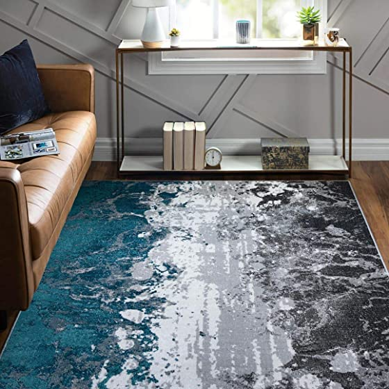 Rugs.Com Valencia Collection Area Rug 9X12 Grey Low Rug Perfect