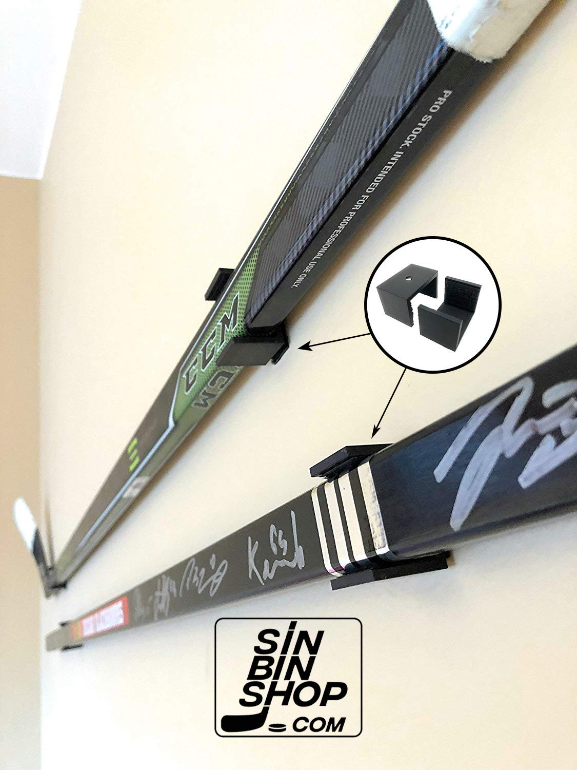 SinBinShop.com Hockey Stick Display Holder/Hanger Wall Mounts