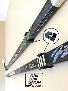 SinBinShop.com Hockey Stick Display Holder/Hanger Wall Mounts