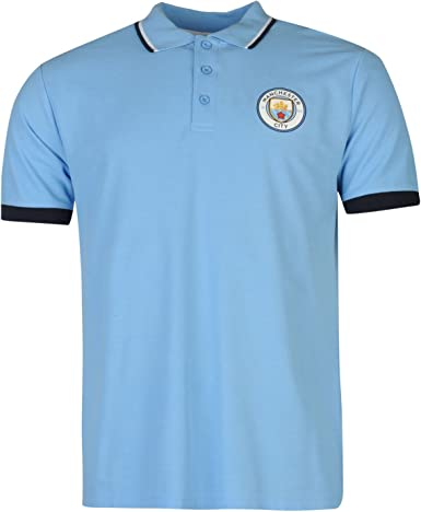 Source Lab Hombre Manchester City FC Polo Camisa Mangas Cortas Top ...