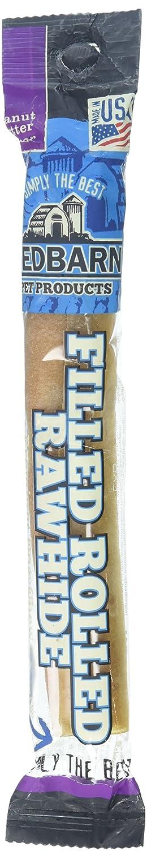 1.9 oz Redbarn Bone Rolled Filled Rawhide Peanut Butter