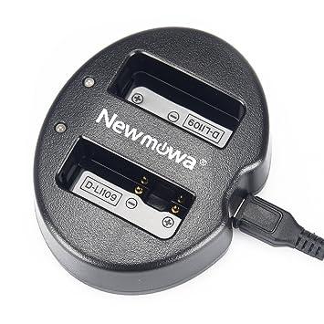 Newmowa USB Cargador Doble para Pentax D-Li109 Pentax KR K-30 K-50 K-500 K-S1 K-S2