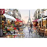 1000 Piece Jigsaw Puzzles for Adults, Paris Street Scenery,DIY Home Decor Toys Fun Games Wooden Educational Explore Creativity and Problem Solving