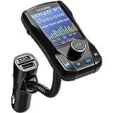 VicTsing Manos Libres Transmisor FM Bluetooth Coche,3 Puerto USB Cargador Adaptador de Radio Reproductor MP3 Coche Pantalla en Color TFT de 1.8 Pulgadas,Soporte USB Flash Drive Tarjeta TF