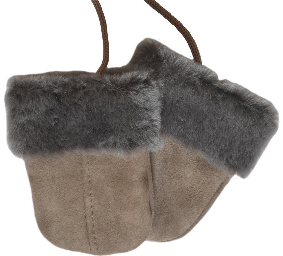 SamWo Moufles pour bébé en peau d'agneau 100% de produit naturel, agréablement chaud, pour les bébés et les petits enfants de 0-2ans