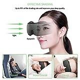 Tker 3D Sleep Mask, Silk Eye Mask Cover with