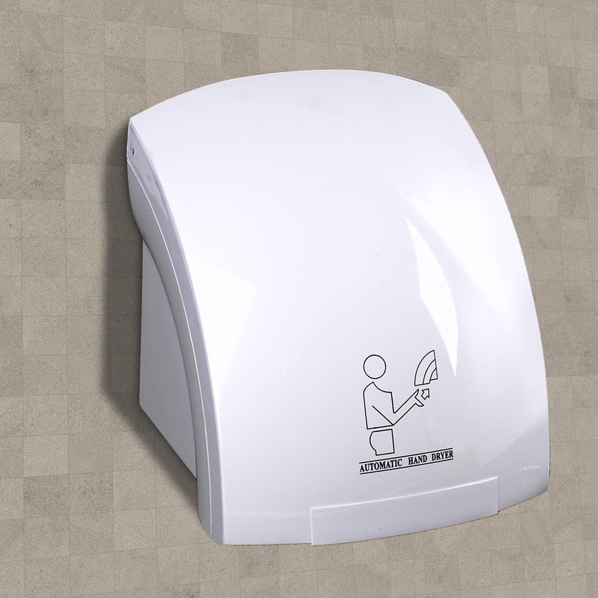Electronix Express 78BW2408341 2011 Automatic Infrared Hand Dryer, Electric, Restaurant Bathroom, 12'' Height, 12'' Width, 12'' Length