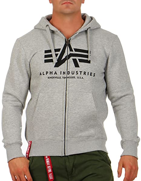 Alpha Industries Hombres Ropa superior / Sudaderas con cremallera Basic: Amazon.es: Ropa y accesorios