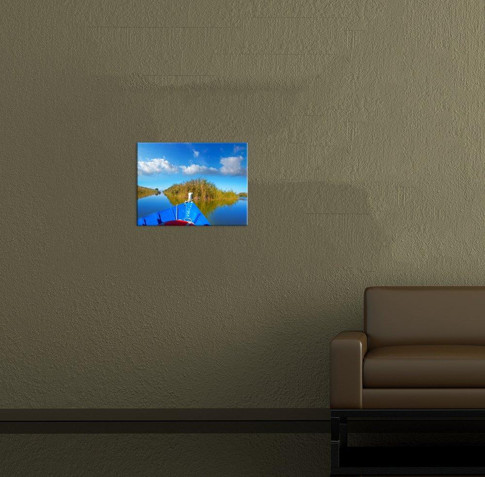 Bilderdepot24 Cuadros en Lienzo Panorama Barco Azul en la ...