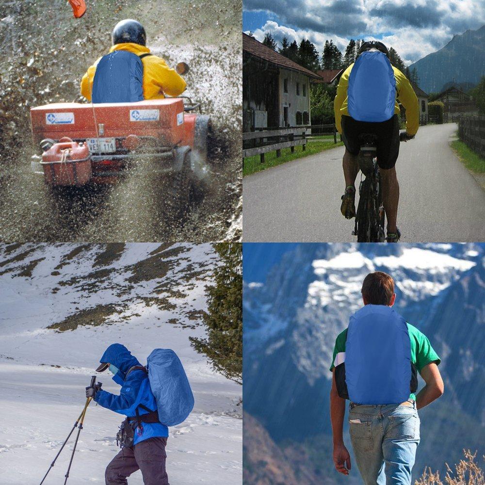 Pack of 2 Black AGPTEK Waterproof Backpack Rain Cover M Size