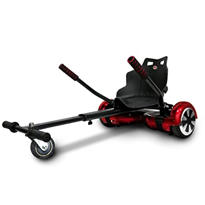 'xskate 6, kart compatible avec balance scooter pour 6.5–8.5–10Mixte adulte, Noir, Taille unique