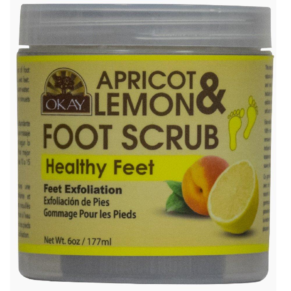 OKAY Apricot & Lemon Foot Scrub, 6 Ounce by Okay
