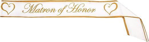 Amazon Com Matron Of Honor Satin Sash Party Accessory 1 Count 1 Pkg Kitchen Dining