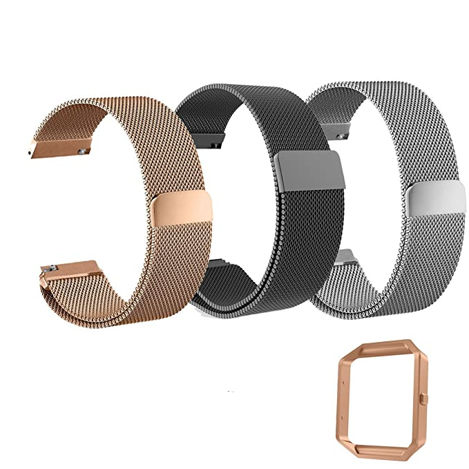 Fitbit Blaze Stainless Steel Band for Women Fit Replacement Clasp Classic NEW
