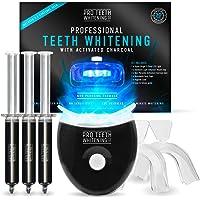 Premium tandenbleekset met geactiveerde houtskool - Blauw 5-punts LED-licht - 6 toepassingen (3 gelspuiten) - Inclusief…