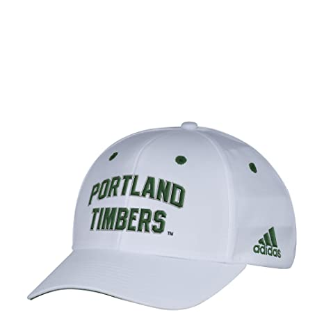 Image Unavailable. Image not available for. Color  adidas MLS Portland  Timbers Men s White Wordmark Structured Adjustable Hat 8702b1c8d1d7