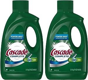 Cascade Complete Gel All-in-1 Dishwasher Detergent - 75 oz - Fresh - 2 pk