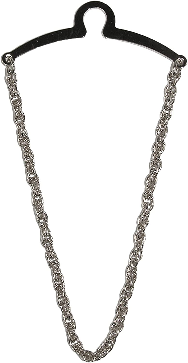 Competition Inc. Men's Rope Style Tie Chain, Silver