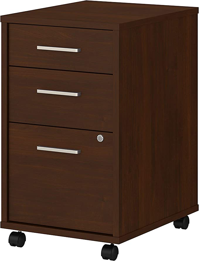 Bush Business Furniture Office by kathy ireland Method 3 Drawer Mobile File Cabinet White Assembled