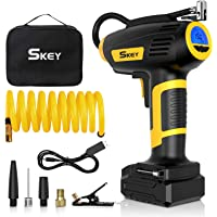 SKEY Air Compressor Tire Inflator - Handheld Electric 150 PSI Portable Air Compressor Cordless Car Tire Pump with…