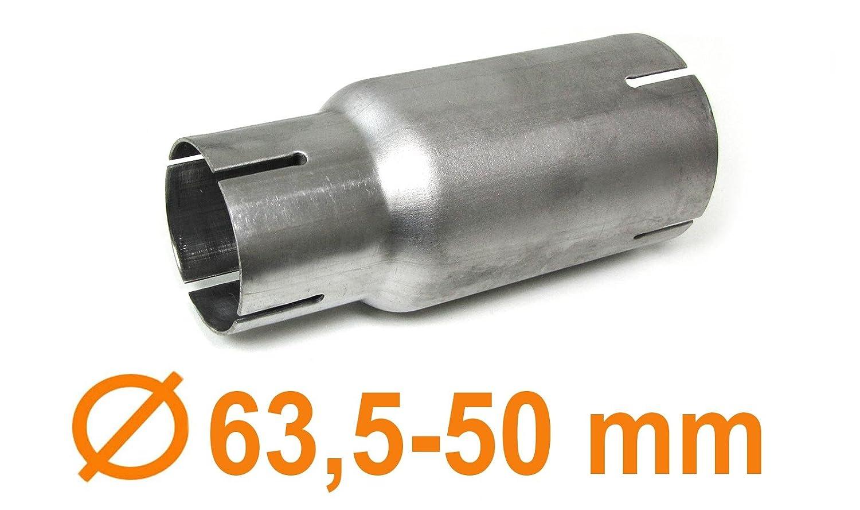 Tubo di scarico in acciaio inox riduttore adattatore del connettore Carparts-Online GmbH
