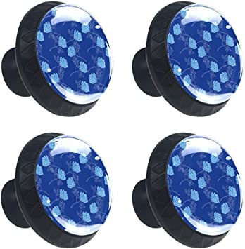 BLUE ROSE Dresser Drawer  Knobs 4 four