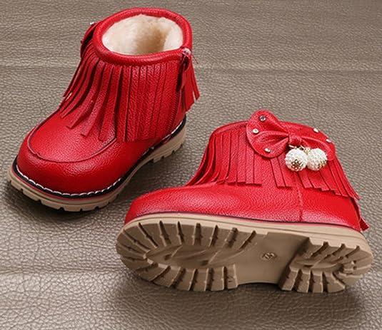 V-SOL Niñas Zapatos de Nieve Calzado Antideslizante Talla 27 Longitud de Pies 16.3cm Rojo x9Q0xBV