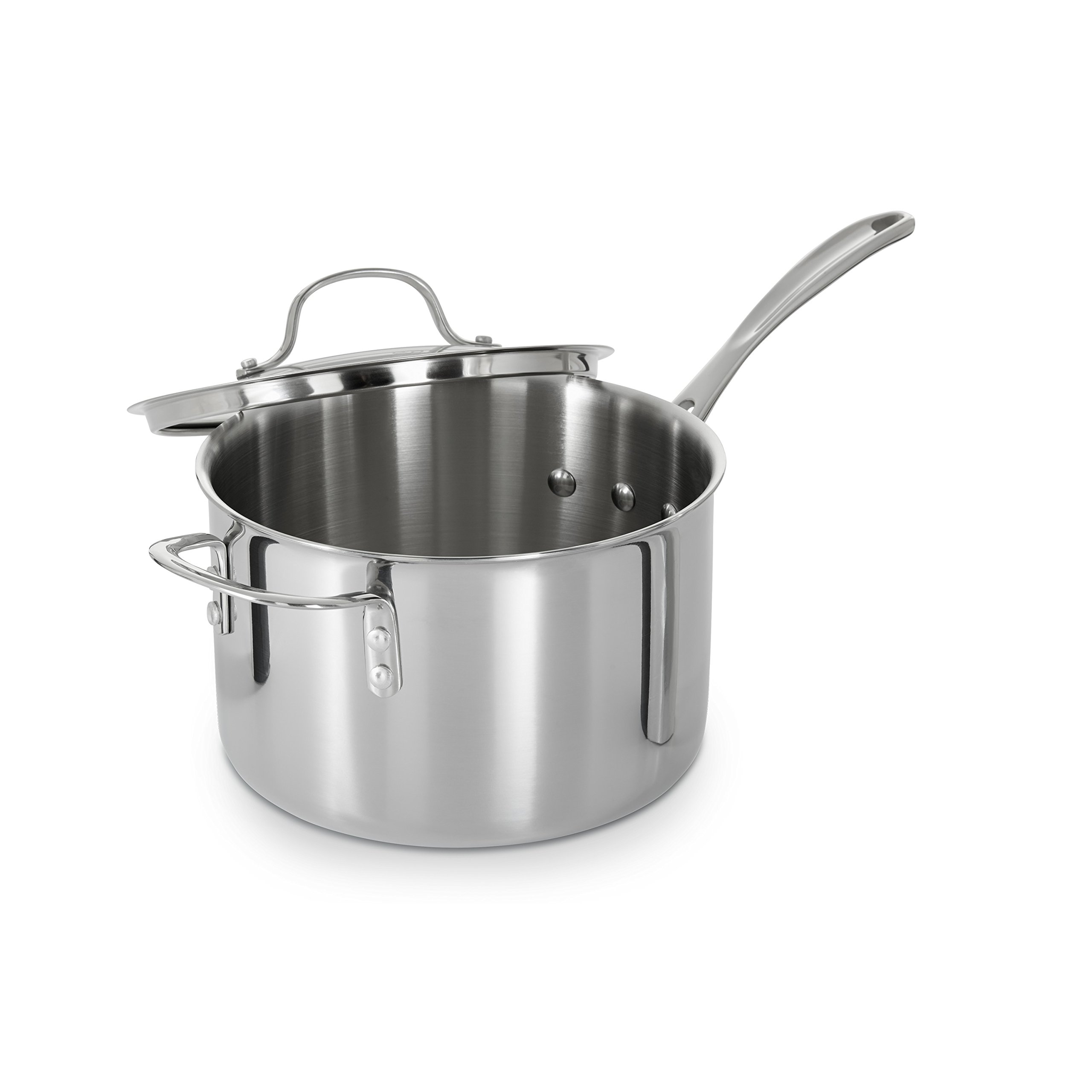 Calphalon Tri-Ply Stainless Steel 4-1/2-Quart Sauce Pan with Cover by Calphalon (Image #3)