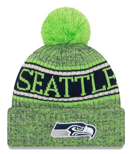 ee9da7da926 New Era NFL Seattle Seahawks 2018 Sideline Reverse Sport Knit   Amazon.co.uk  Sports   Outdoors
