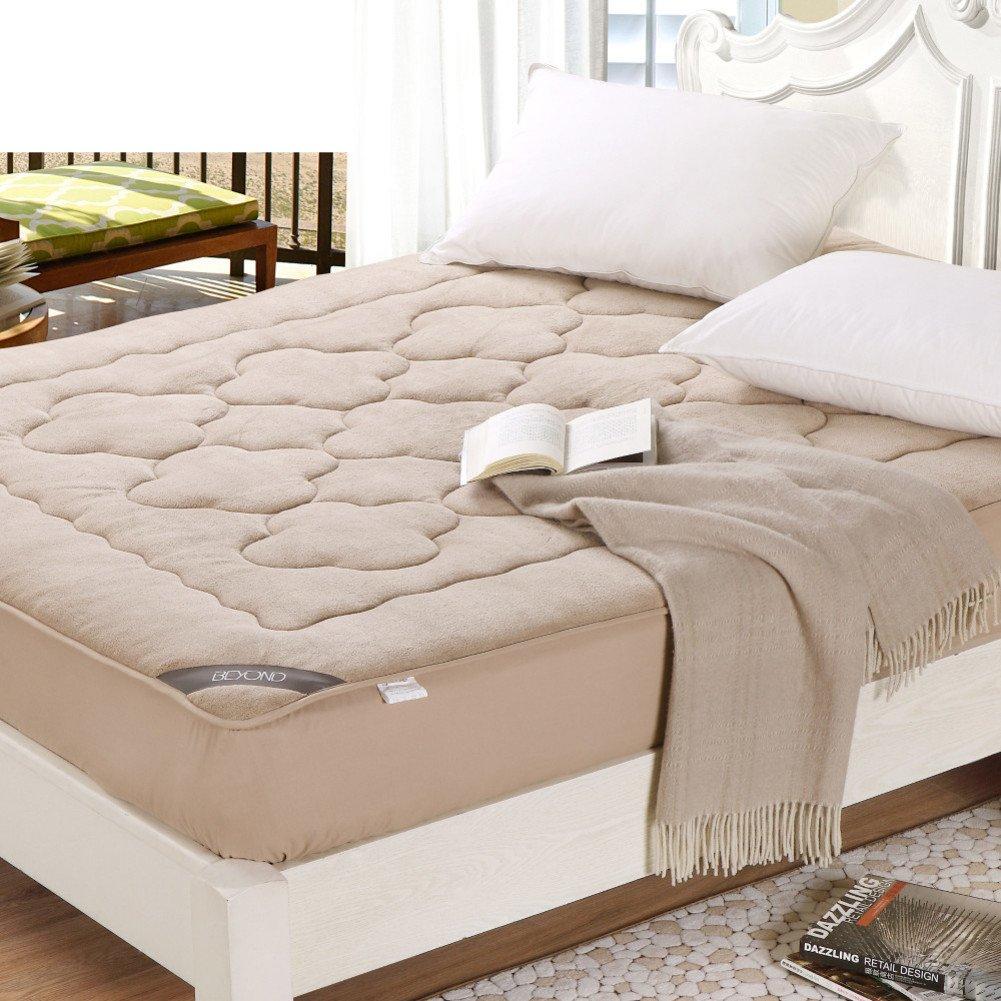Textile mattress mattress 1.8m bed thin mat is anti-skidding fold 1.5m tatami mats double thicken student-A 180x200cm(71x79inch)