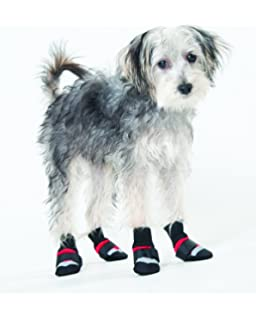 Fashion Pet Lookin Good Arctic Fleece Boots for Dogs, Small, Black Fashion pet arctic fleece boots
