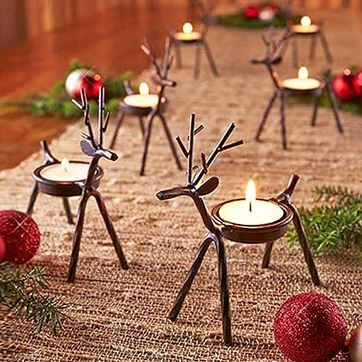 Christmas Xmas Tealight Candle Holder Tea Light Votive Dining Candle Decoration