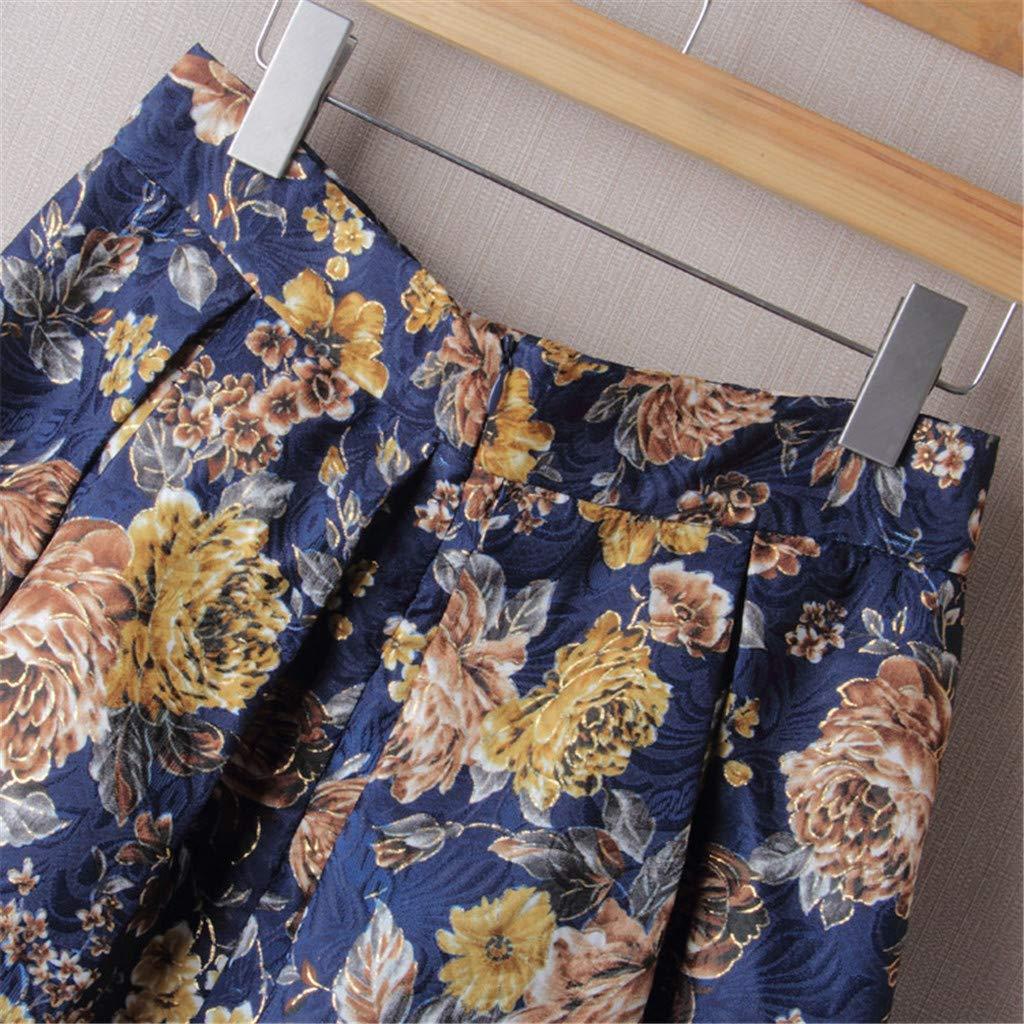 Zarupeng ☆☆☆☆ Mujeres Cintura Alta posicionamiento impresi/ón Medio Falda Pettiskirt Princesa Vestido de Fiesta