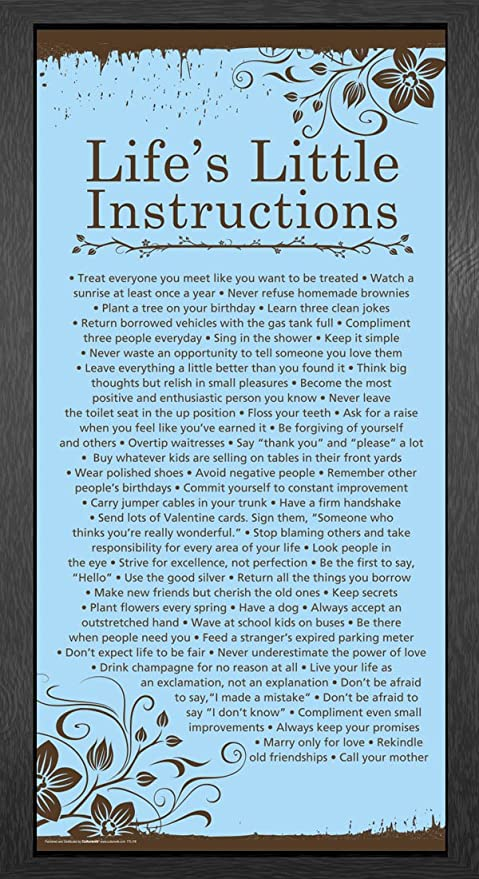 Amazon Com Culturenik Life S Little Instructions Kindness Quotes