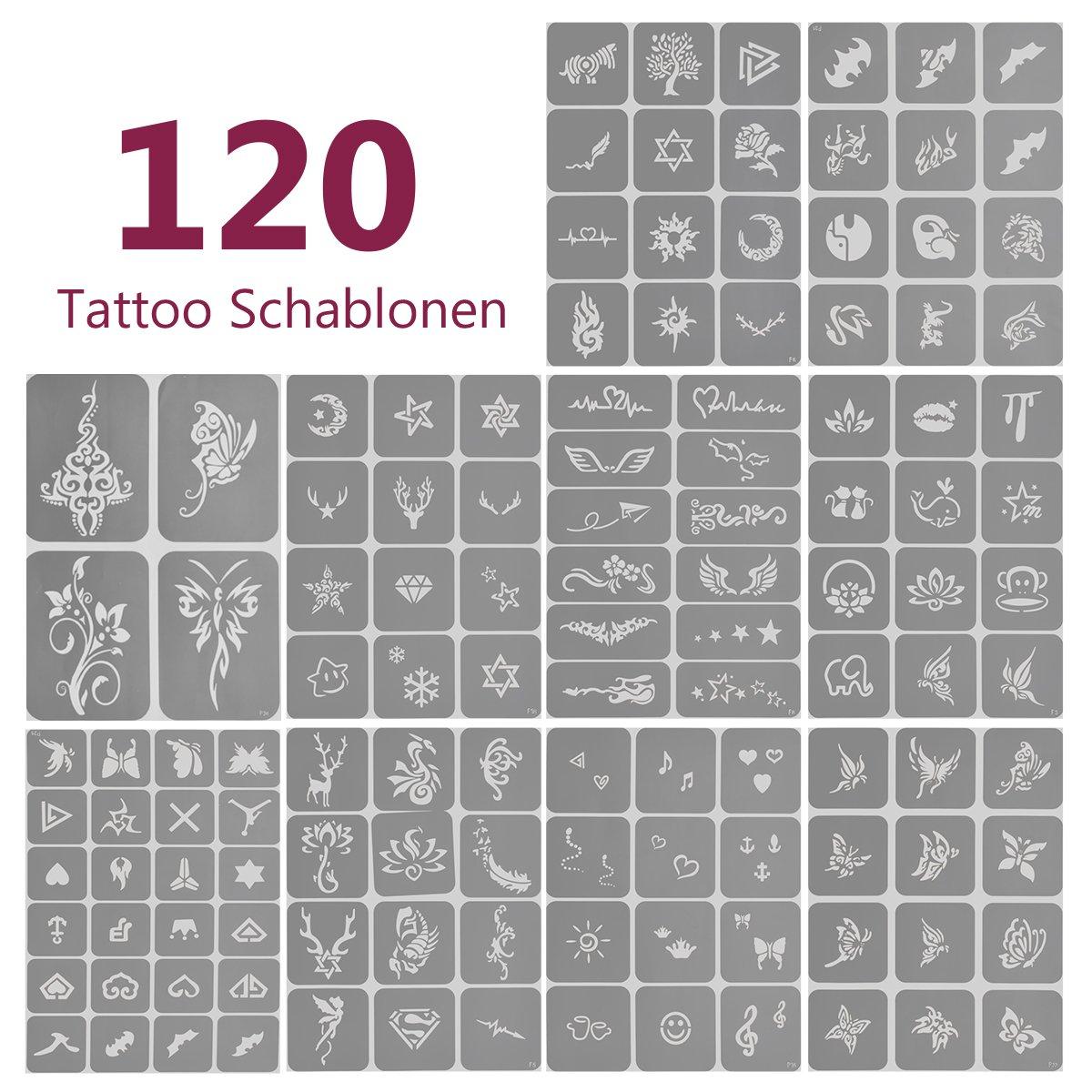 Kit de Tatuaje Temporal de Brillantina, Cara Cuerpo Pintura con 24 ...
