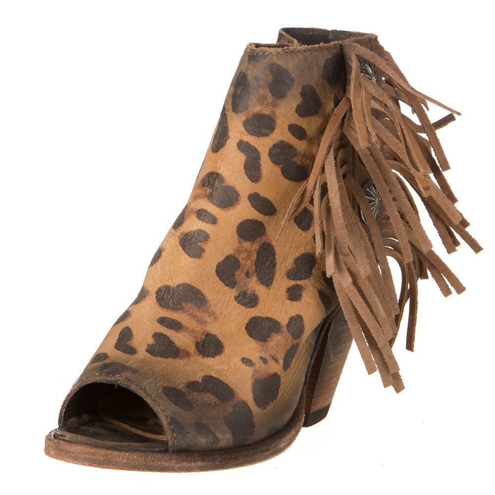 LIBERTY BLACK Womens Leopard Chita Miel Booties Lb712807a