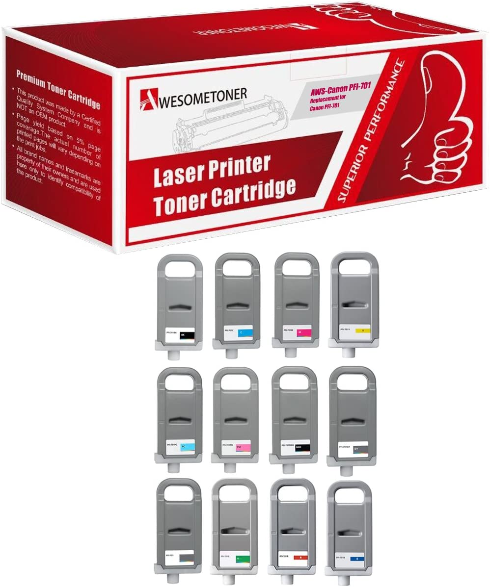 Awesometoner Compatible Ink Cartridge Replacement for Canon PFI-701MBK use with ImagePROGRAF iPF8000 Matte Black, 1-Pack 8000S 9000 9000S