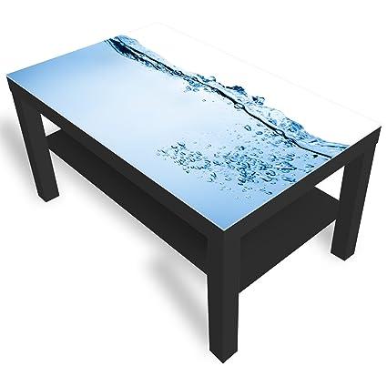 Misure Tavolino Lack Ikea.Dekoglas Ikea Lack Tavolino Da Salotto Con Piano In Vetro