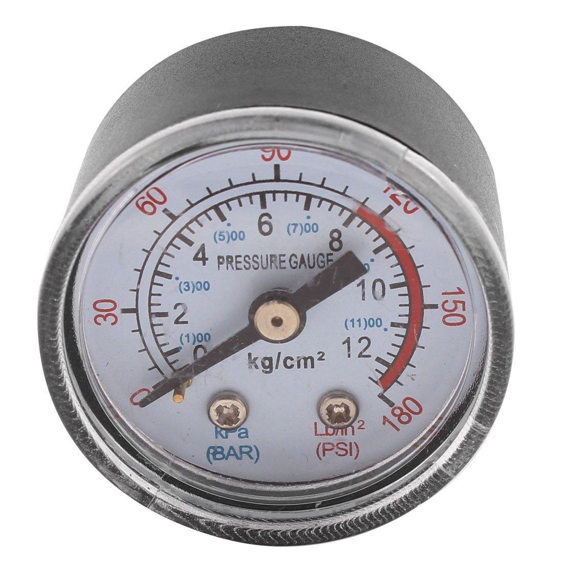 0-180psi 0-12 kg / cm2 9.5mm 1 / 8BSP Tema Dia Dial Manómetro de aire DealMux