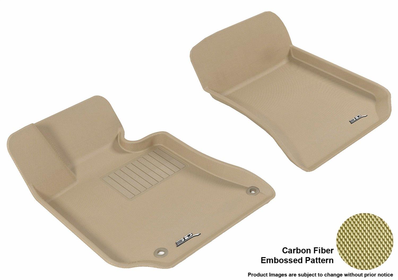 Gray 3D MAXpider L1MB05711501 Front Row Custom Fit All-Weather Floor Mat for Select Mercedes-Benz E-Class W212 Models Kagu Rubber