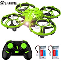 EACHINE E016H Mini Drone,RC Quadcopter Drone for Kids and Beginners with Altitude Hold Function,3D Flip,Headless Mode,and 2 batteries.