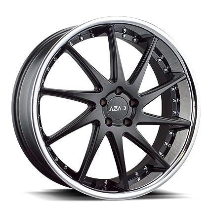 Amazon Com 22 Inch Azad Az23 Black Chrome Lip Wheels