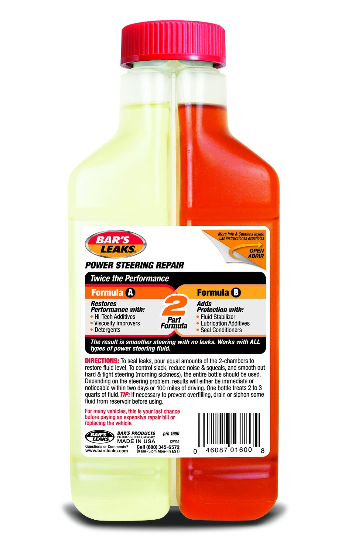 Bar's Leaks 1600-4PK Power Steering Repair-16 oz, (Pack of 4), 16. Fluid_Ounces, 4 Pack by Bar's Products (Image #2)