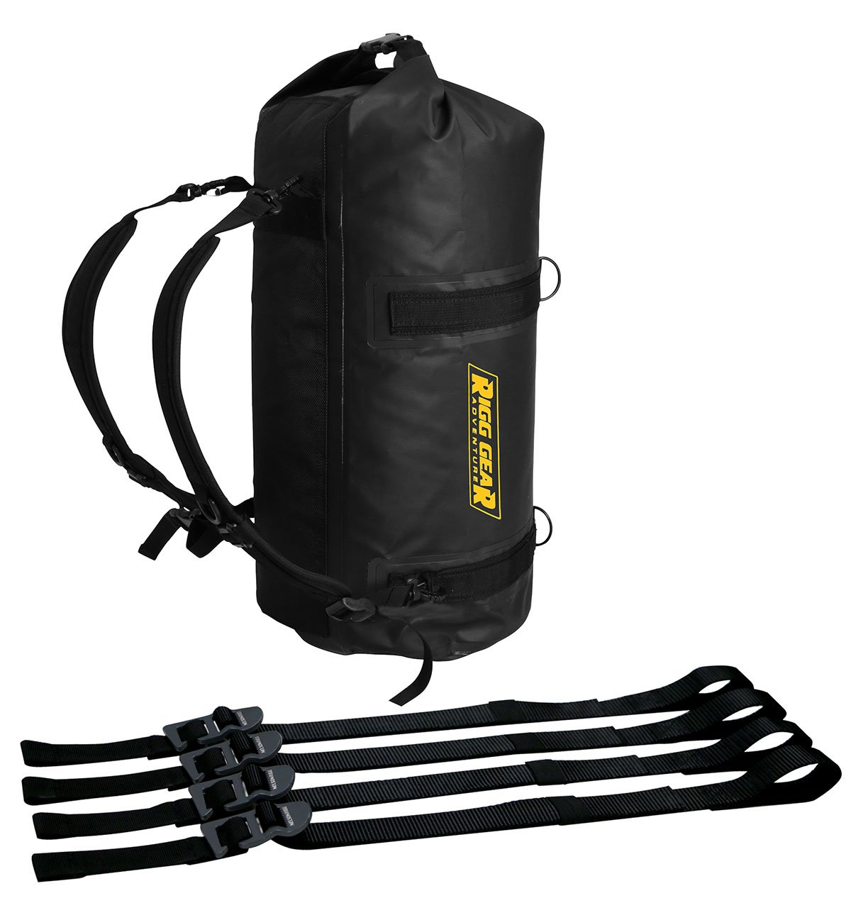 Nelson Rigg (SE-1030) Ridge Roll Dry Bag 30L 100% Waterproof with Backpack Straps,Black