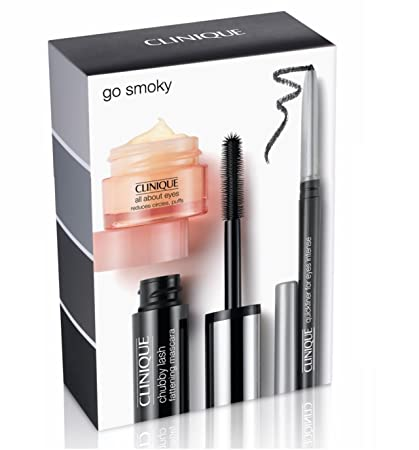 Amazon.com : Clinique Go Smoky Eye Kit 3 pcs Set. Eye Cream, Mascara, Eyeliner : Beauty