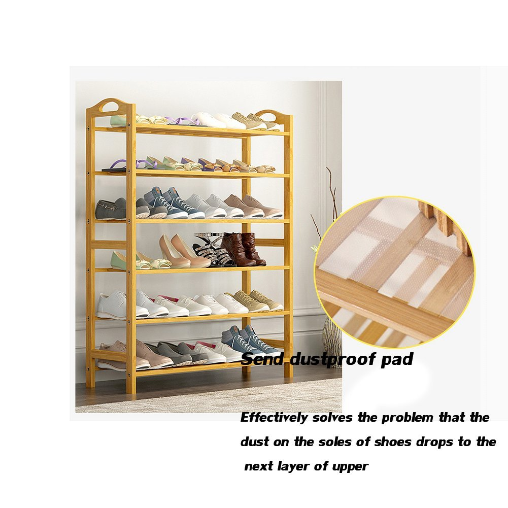 Bamboo shoe rack,100% solid wood ,Flower stand, Bookshelf,Function assemble,Entryway shelf Stand shelves Stackable Entryway bedroom-D 50x25x87cm(20x10x34inch) by franchise house (Image #4)