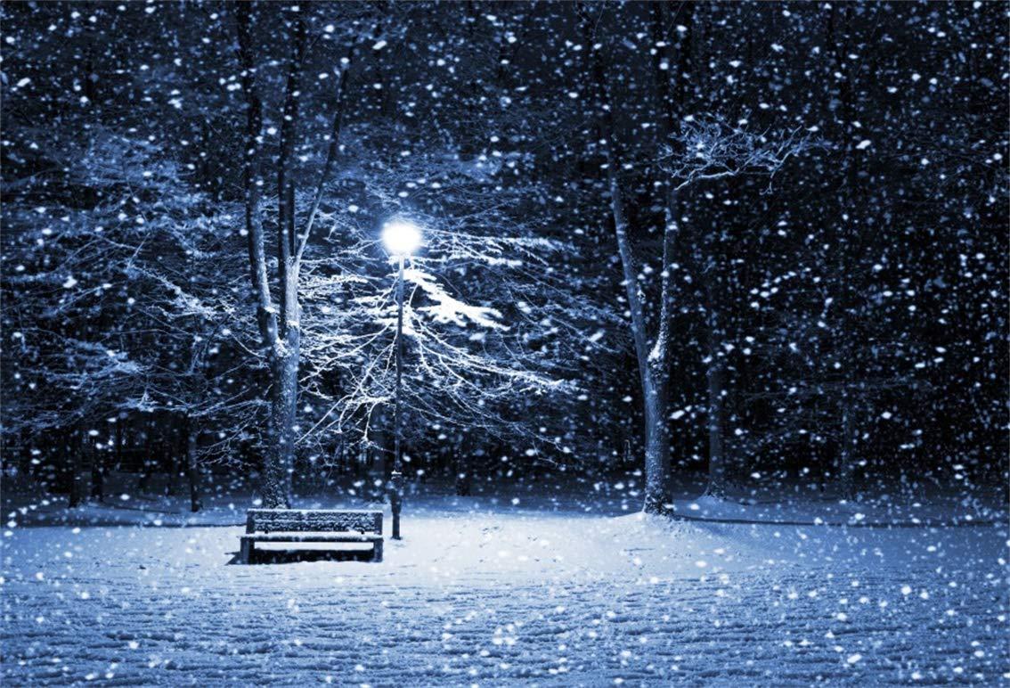 EdCott 7x5ft Innevato Sfondo una collina Innevato Inverno Fotografia Paesaggio innevato Foresta Sfondo Casa legno Pini Sci montagna Vacanze natalizie Viaggi Capodanno Studio fotografico vinile