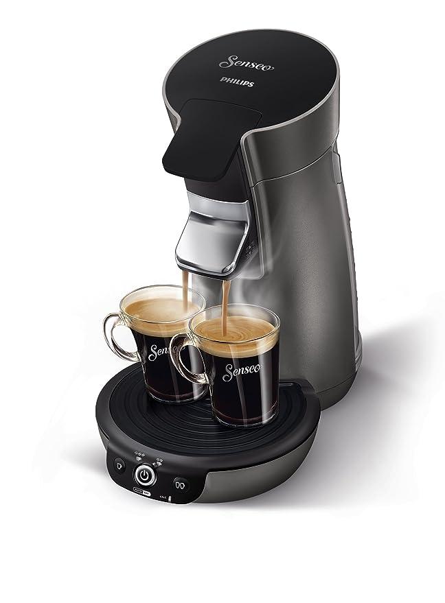 Senseo HD7833/50 - Cafetera (Independiente, Máquina de café en cápsulas, 0,9 L, Dosis de café, 1450 W, Negro, Titanio): Amazon.es: Hogar